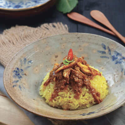 menu marco padang Nasi Kunyik Ayam Panggang